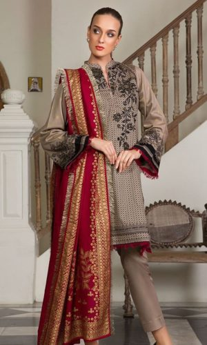 Orient OTL-175 Red Embroidered shirt with woolen shawl