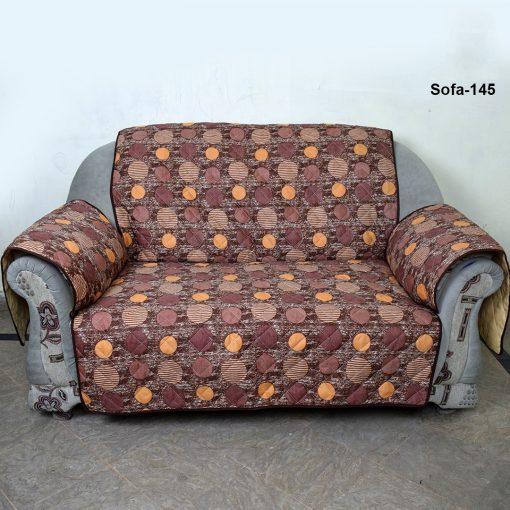 sofa coat Brown printed dot