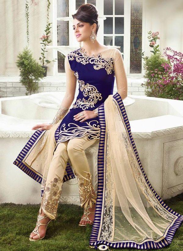 Anarkali embroided lawn dress 2019