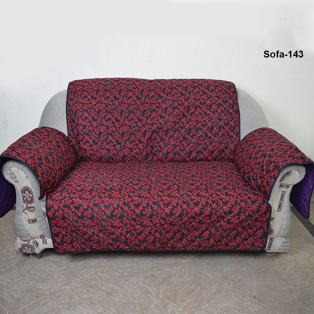 Reversible Red Black Flower Sofa Coats
