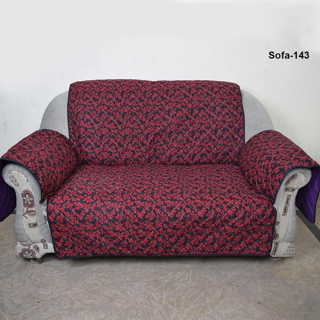 Reversible Red Black Flower Sofa Coats