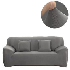 jersey fitted sofa light grey