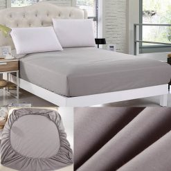 jersey fitted sheet grey