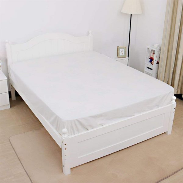 Jersey fitted sheet white