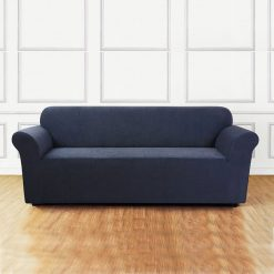 jersey sofa cover light blue