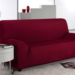 jersey sofa cover maroon
