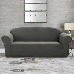 jersey sofa cover grey