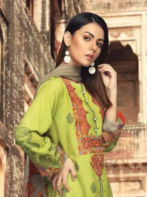Charizma-CR-11 lawn with chifon dupata embrided lawn collection 2020