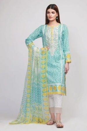 khaadi 101 embroided lawn with chiffon dupata collection 2020