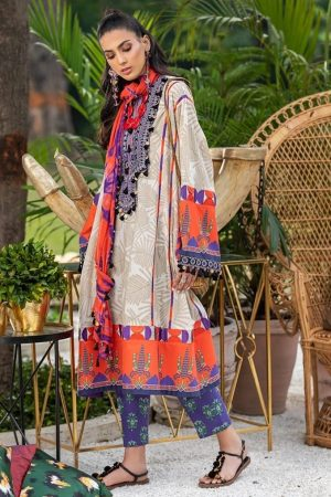 zaha embroided lawn collection 2020