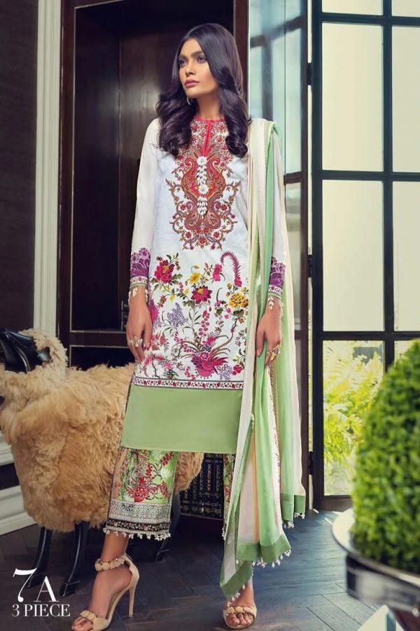 Sana Safinaz SS-07A embroided lawn collection 2020