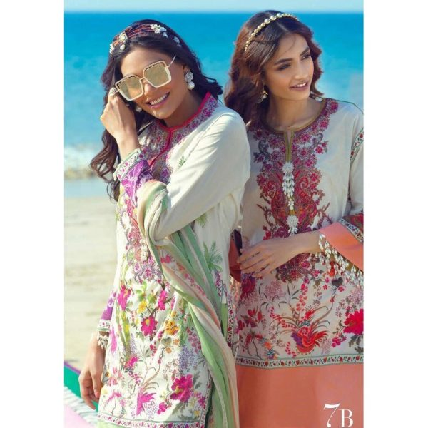Sana Safinaz SS-07AB embroided lawn collection 2020