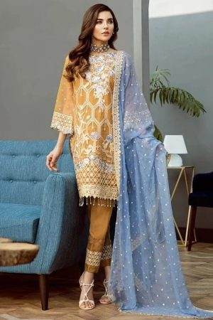 Alleche AFROZEH Ezlyn AA-09 embroided lawn collection 2020