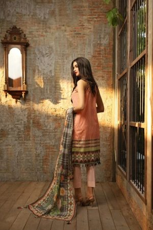 LSM Fabrics by Komal LSM-2006 embroided lawn collection 2020