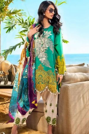 sana safinaz muzlin best embroided jaquard fancy lawn suit 2020
