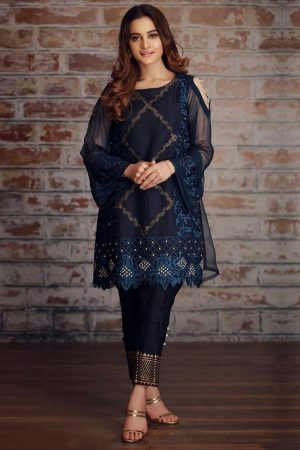 Aiman Khan AM-1038 lawn collection 2020