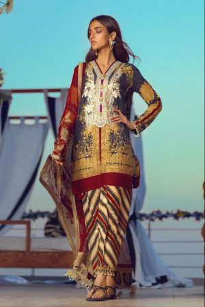 Sana Safinaz SS-12B best embroided jaquard fancy lawn suit 2020
