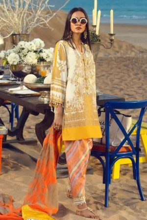 Sana Safinaz SS-12A embroided lawn suit 2020