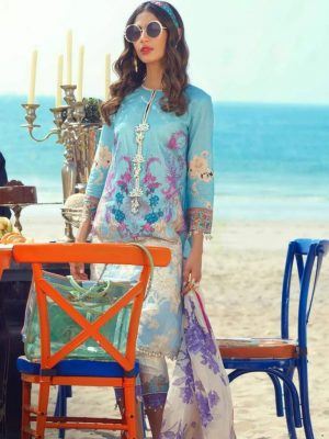 sana safinaz lawn embroided collection with chiffon dupatta 2020