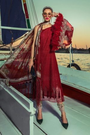 mariab embroided lawn embroided lawn collection 2020