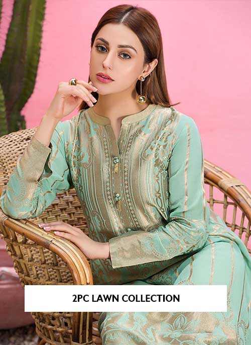 2pc embroidered lawn collection 2021 latest