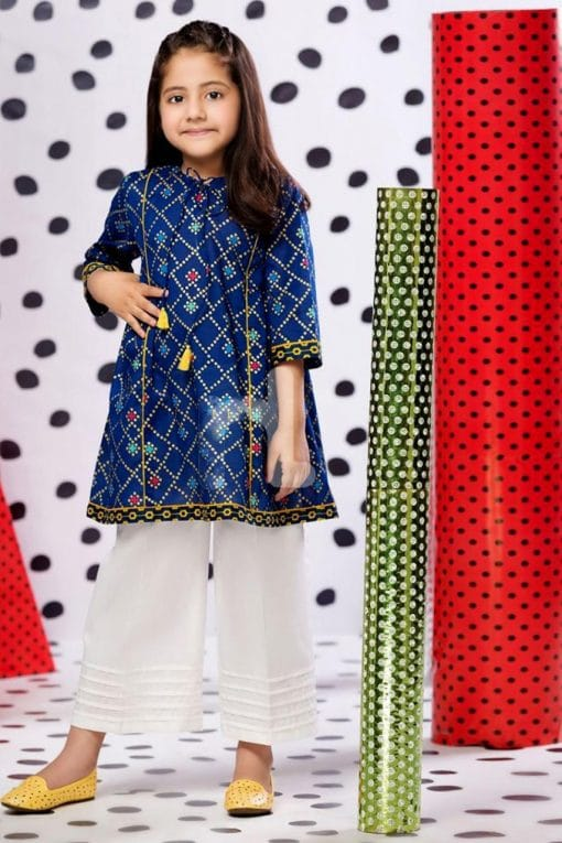 Nishat Kids Lawn Collections 2021 with Mirror Work