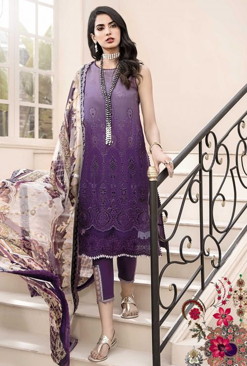 noor by Saadia Asad lawn collection 2021 with chicken kari embroidered