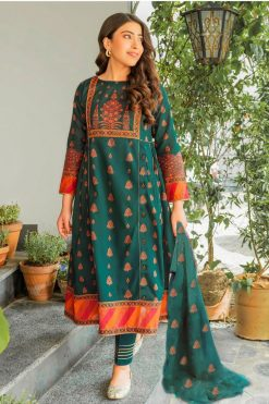 Batik 3pcs Embroidered Frock Style Lawn Sui