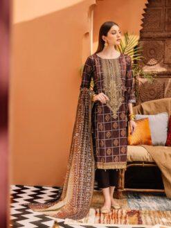 Baroque Latest Winter Peech Leather Dhanak Suits 2021