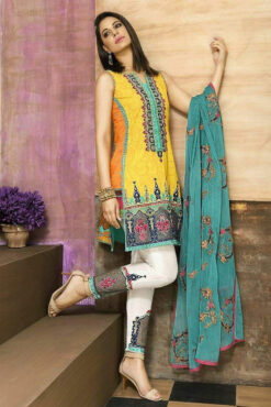 AsimJofa embroidered winter linen collection 2021