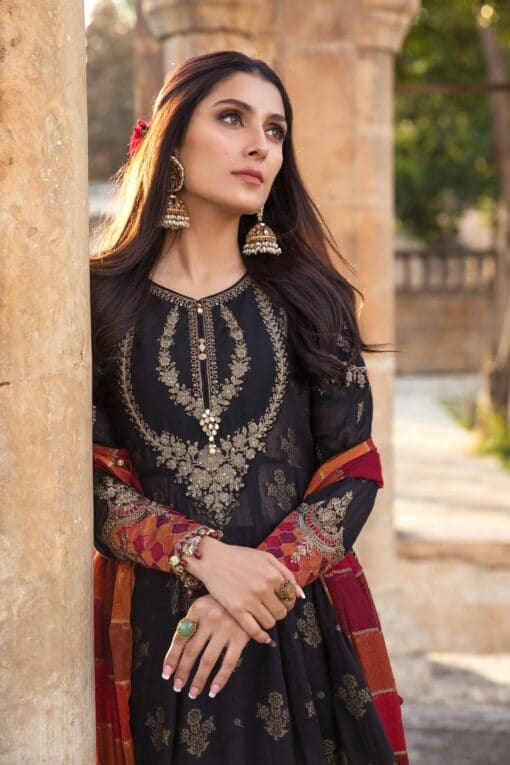 MariaB New Arrivals 3pcs Embroidered Dhanak Suit 2021