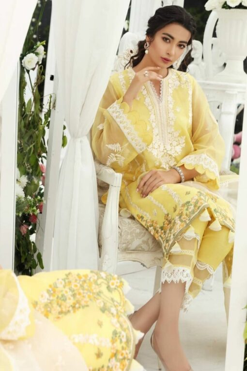 agha noor 2 piece organza suit, organza full embroidered winter suit 2021